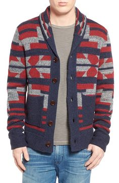 Lucky Brand Jacquard Shawl Collar Cardigan available at #Nordstrom