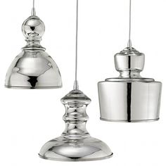 Mercury glass is so pretty. I like the grouping of these fixtures. Would look great in my foyer.