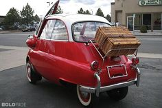 1958 BMW Isetta , all dressed up and ready to go. yeah, its an awesome little car. :)