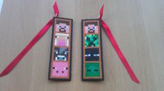 Novelty Videogame Bookmark. Inspired by Minecraft.