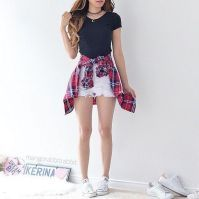 Cute Outfit Ideas For Summer Collection looks cute summer outfits ideas outfitmax Cute Outfit Ideas For Summer. Here is Cute Outfit Ideas For Summer Collection for you. Cute Outfit Ideas For Summer 36 se outfit ideen fr den sommer s. Cute Summer Outfits For Teens, Cute Teen Outfits, Dresses For Teens, Short Outfits, Outfits With White Shorts, Cute Outfits With Flannels, Summer Outfits With Converse, Outfits For Disney, Shorts Outfits For Teens