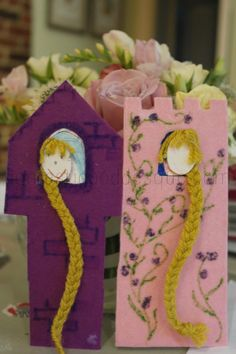 Rapunzel- Students will bring in a picture of themselves to be either Rapunzel, or the prince. They will then decorate their tower.