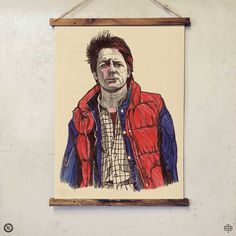 LUKE DIXON - MARTY MCFLY - A3 PRINT - LIMITED EDITION -