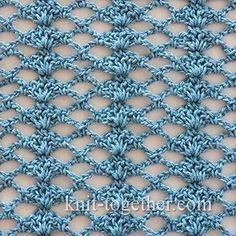 Crochet Shell Stitch and Mesh - detailed description and crochet chart  #crochet…