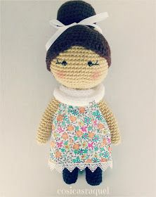 cosicasraquel: Muñeca de Crochet Crochet Dolls Free Patterns, Amigurumi Doll, Crochet Baby, Teddy Bear, Crafty, Sewing, Toys, Baby Dolls, Shopping