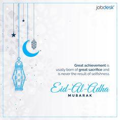 🌙 Happy Eid-al-Adha Mubarak 🌙          #jobdesk #jobdeskcom #hiringapp #Eid #EidulAdha   #EidAlAdha #EidMubarak #EidAlAdha2020Mubarak   #eidwish #topglobalrecruitingplatform #AdhaMubarak Happy Eid Al Adha, Adha Mubarak, Platform, Wedge