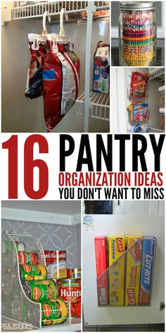 Pantry Organization Ideas I have been doing the chip clip hanger for years . It is great. they have some other good ideas too.