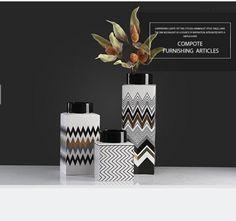 Colorful ceramic vase for home decor