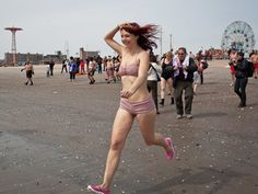 the coney island polar bear club goes for a swim, march 24, 2013 • michael kirby smith for the nyt