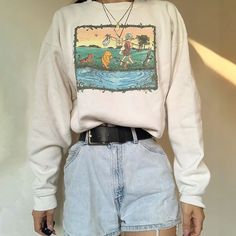 Casual Cartoon Printed White Sweatshirts – aromiya Kanye West, Hypebeast, Balenciaga, Streetwear, Gucci, Ootd, Printed Sweatshirts, Hoodies, Retro Sweatshirts