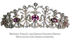 The Bowknot tiara, a bowknot pink topaz tiara chaumet 1900.gif