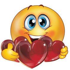 Emoticon Love, Smiley Emoticon, Animated Smiley Faces, Funny Emoji Faces, Emoticon Faces, Funny Emoticons, Emoji Love, Smileys, Emoji Mignon