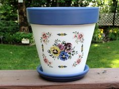 click to see Floral Hand-Painted Flower Pots