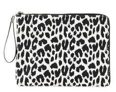 Paul's Boutique Fleur clutch bag in monochrome leopard. Online now || www.paulsboutique... x