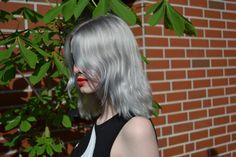 Pastell blaue Haare
