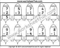 Subtraction – 1 Kindergarten Subtraction Worksheet