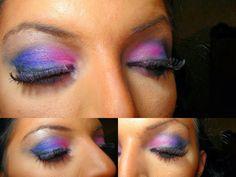 Comment se maquiller - maquillage bleu-rose
