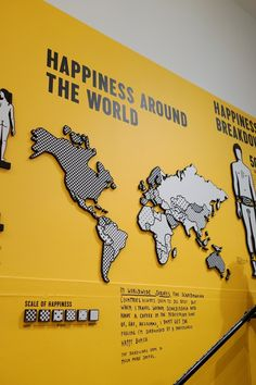 The Happy Show at MOCA — Minimally Minimal // he graduated a semester before me! Interactive Exhibition, Interactive Design, Emo, Happy Show, Stefan Sagmeister, Experiential Marketing, Exhibition Stand Design, Wayfinding Signage, Museum Of Contemporary Art
