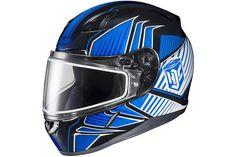 HJC Redline Mens CL-17 Snocross Snowmobile Helmet - MC-2 / Small