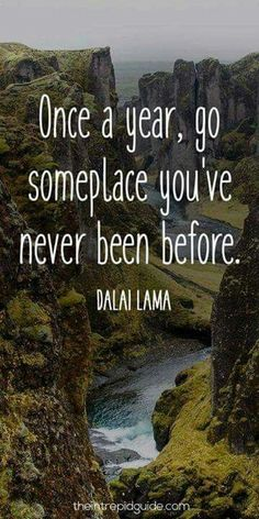 123 Inspirational Travel Quotes: The Ultimate List If the Dalai Lama says I should, then I guess I will. Best Travel Quotes, Quote Travel, Inspirational Travel Quotes, Travel The World Quotes, Adventure Is Out There, Travel Goals, Mark Twain, Travel Inspiration, Travel Ideas