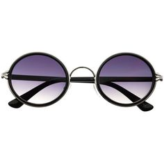 Retro Vintage Style Fashion Circle Round Sunglasses R3160 freyrs (19 ILS) ❤ liked on Polyvore featuring accessories, eyewear, sunglasses, glasses, metal sunglasses, circular sunglasses, round frame glasses, circle sunglasses and circle glasses
