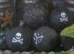 """Idea for """"Rum Bowling"""" with cannon balls in Pirate's Cove."""