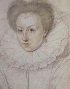 Marie Touchet de Beauvais, Comtesse d'Entragues (1549 - 1638). Maîtresse du roi Charles IX de France et seconde epouse de François de Balzac, comte d'Entragues. Elle fut la mère du bâtard Charles d'Angoulême, fruit de ses amours avec Charles IX.