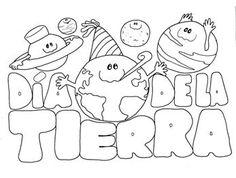 Dibujos del día de la Tierra para colorear para niños Earth Day Kindergarten Activities, Earth Day Activities, Spanish Activities, Montessori Activities, Activities For Kids, Crafts For Kids, Preschool, Coloring For Kids, Coloring Books