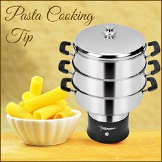 Getting that perfect flavor and texture for homemade pasta can be tricky sometimes. Here's a valuable cooking tip - Stir the pasta immediately after adding it to the water, and occasionally thereafter to avoid a giant clump of noodles.