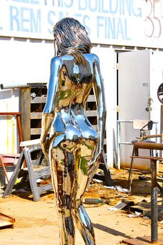 vs Need photos) Female form statue in chrome Expos Paris, Art Sculpture, 3d Prints, Silver Surfer, Erotic Art, Metal Art, Futuristic, Fantasy Art, Cool Art