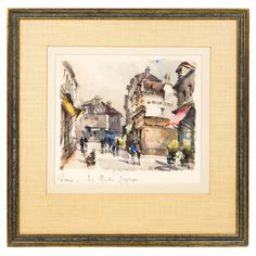 "Lot 222: 2 Parisian Street Scenes. ""Place du Tettre"", ""Le Moulin Joyeux"". Signed by Belan. On website. Labeled as coming from my house. Not on hand-written receipt."