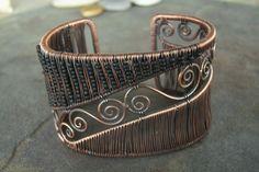 Copper Wire Swirled Cuff Bracelet. Copper is so pretty
