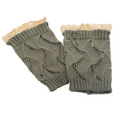 8 Gray tone crochet boot toppers featuring by HalliesCreations14 $14