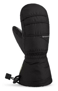 DAKINE KIDS AVENGER JUNIOR SNOWBOARD MITTS BLACK The AVENGER JR ski gloves mittens children are equipped with the finest Textile Technology: GORE-TEX ®, Thermoloft - isulation, Weather Shield shell fabric . The fingers of the Dakine Avenger Junior Glove Children's glove for a more pleasant and relaxed comfort ergonomic, preformed fist-shaped with a soft lining. #snowboard #kidsnowboardskigloves #dakinekidsavengerjuniorsnowboardskimittengloves #colourblack