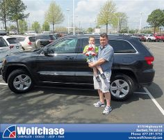 Wolfchase Chrysler Jeep would like to say Congratulations to Jason Comfort on the 2013 Jeep Grand Cherokee