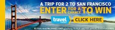 Enter to win a trip for two to San Francisco #sweepstakes ends 9/30/14