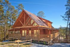 Apache Sunset - Enjoy the Smoky Mountain sunsets from the porches of this amazing log cabin!