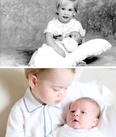 William & Harry - 1984. George & Charlotte - 2015.