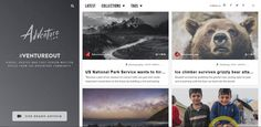 Adventure.com has a minimalist website design approach. It has a left fixed sidebar, with clear navigation. It possess clean and readable typography.