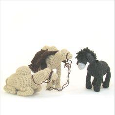 Crochet Nativity Set 4 Sitting Camel Standing Camel and Donkey Christmas Childrens Toy Creche Crochet Pattern PDF INSTANT DOWNLOAD on Etsy, $4.99