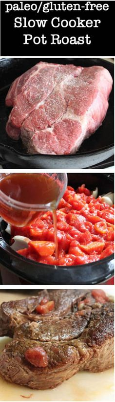 Paleo Slow Cooker Pot Roast Recipe #glutenfree #paleo #slowcooker