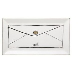 Peter's Of Kensington | Lenox - Kate Spade Daisy Place Snail Mail Tray