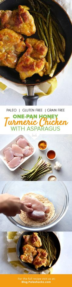 This Honey Turmeric Chicken recipe is ready in just 30 minutes and uses simple ingredients for an easy, healthy meal! For the full recipe, visit us here: http://paleo.co/honeyturmchicken