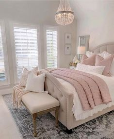 Most Popular and Amazing Bedroom Design Ideas for This Year Part 24 - Home decor - Bedroom Decor Room Ideas Bedroom, Home Decor Bedroom, Modern Bedroom, Contemporary Bedroom, Bedroom Inspo, Blush Bedroom Decor, French Bedroom Decor, Bed Room, French Bedrooms