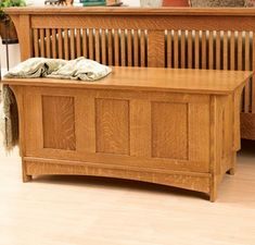 mission style blanket chest