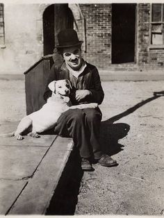 A Dog's Life, 1918. Once the movie was finished, Chaplin kept the dog, Scraps, as a pet.
