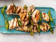 Lemon Chicken and Shishito Pepper Kebabs recipe from Food Network Kitchen via Food Network
