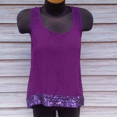 Sheer purple top Sequined hem. Racer back Mossimo Supply Co. Tops
