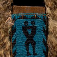 Piikani Blackfeet (Northern Piegan) mirror board and pouch