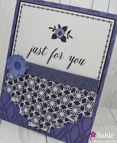 Scrappin Dhilly makes such beautiful cards! Love her latest one with the pleated card in the Blue China Stack patterns!